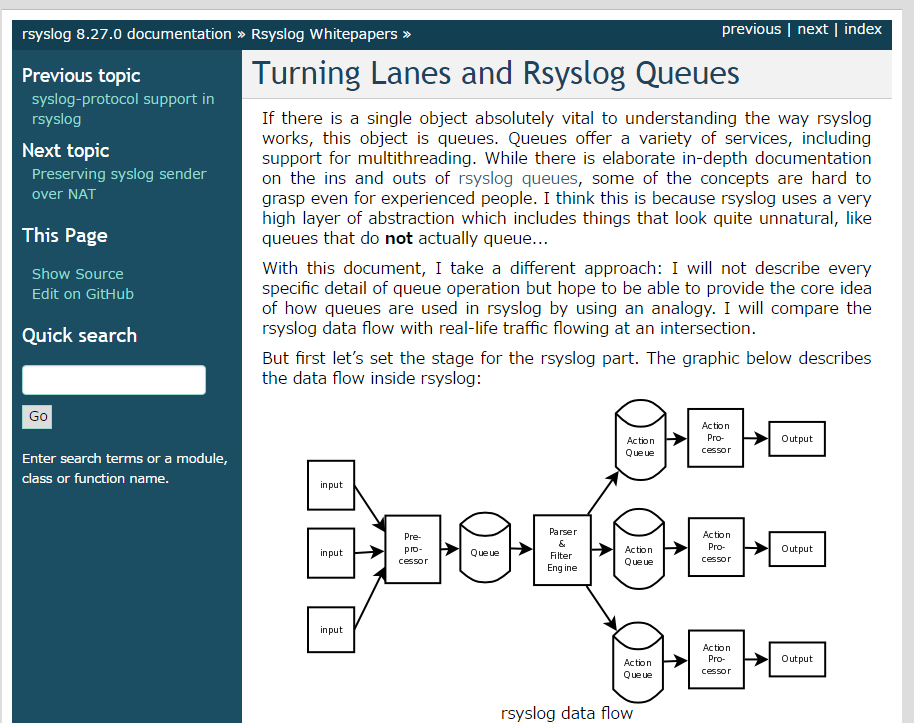 rsyslog のデータベース出力機能やテンプレート機能 スクリプティング