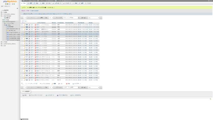 更新されたMySQLデータ