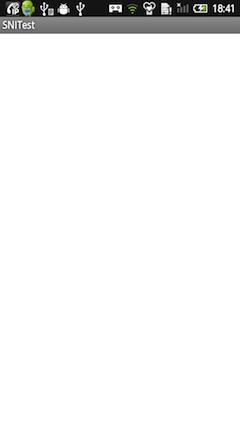 SNI非対応WebViewの画面