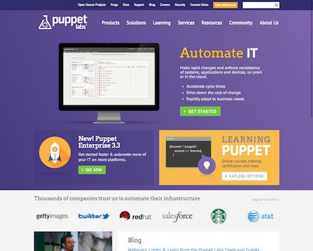 PuppetのWebサイト