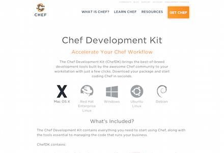 ChefDKのダウンロードページ