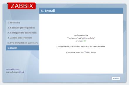 図7 初期設定作業が完了すると「OK」が表示されるので、「Finish」をクリックする