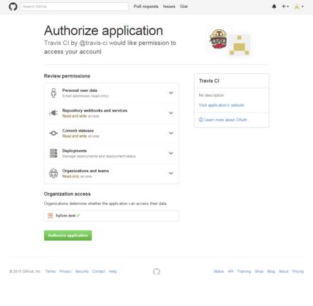 図2 GitHubの認証ページ