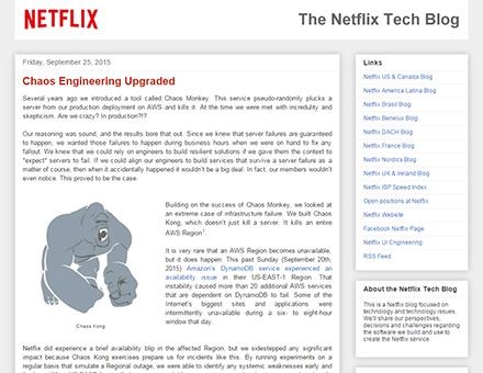 Netflixのブログ