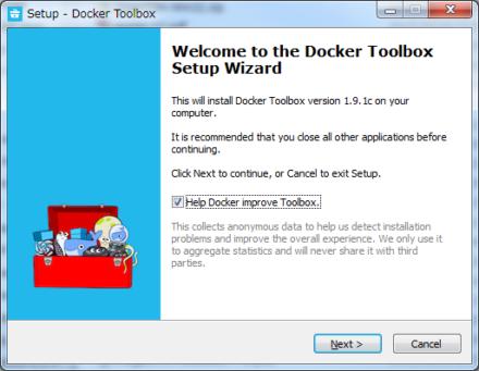 図2 Docker関連ツールをまとめてインストールできる「Docker Toolbox」