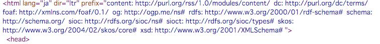 HTMLヘッダ内容(RDF対応)