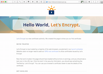 Let's Encryptのデモ