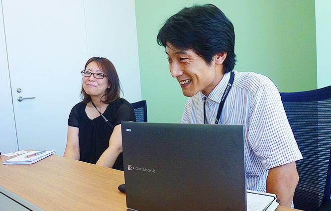 今回インタビューをさせていただいた、嶋崎さん(左)と、山下さん(右)