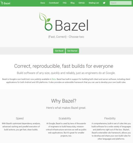 図1 BazelのWebサイト