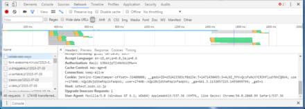 図2 Google Chromeではデベロッパーツールを利用することで送信しているCookieを確認できる