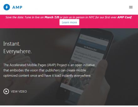 図1 AMPプロジェクトのWebサイト