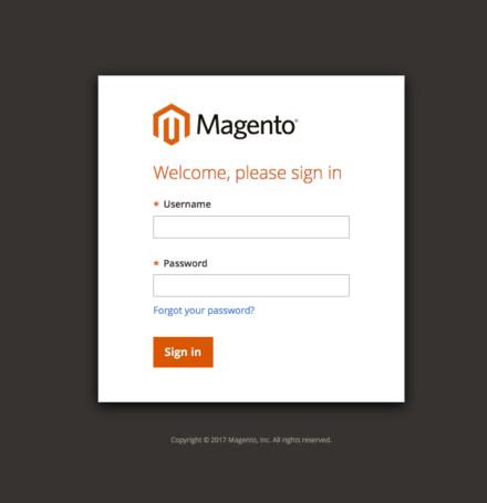 Magento 管理画面ログイン