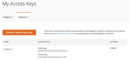 Magento 公式キー管理