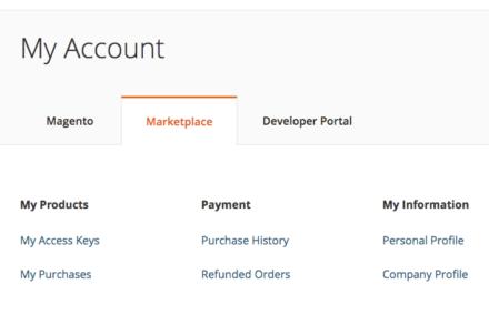 Magento 公式マイページ
