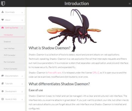 図4 Shadow DaemonのWebサイト