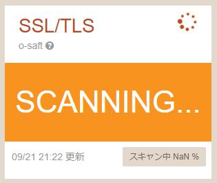 SSLTLSスキャン実行中